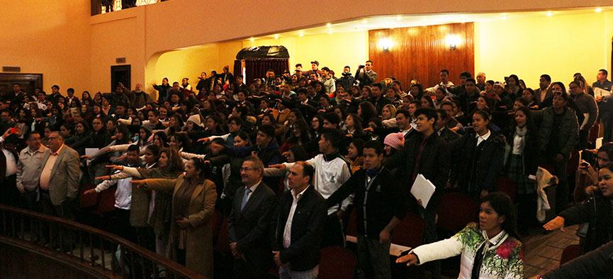 Se comprometen estudiantes del Cobaez con la promoción de los derechos humanos