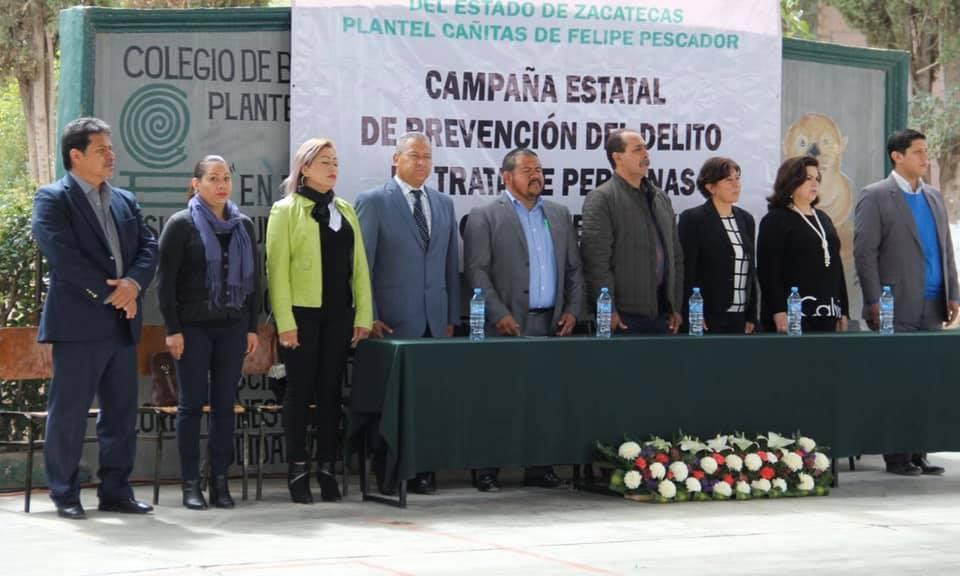 CLAUSURA DE LA CAMPAÑA PREVENCIÓN DEL DELITO DE TRATA DE PERSONAS PARA ADOLESCENTES Y JÓVENES POR PARTE DE LA FISCALÍA ESPECIALIZADA EN ZACATECAS