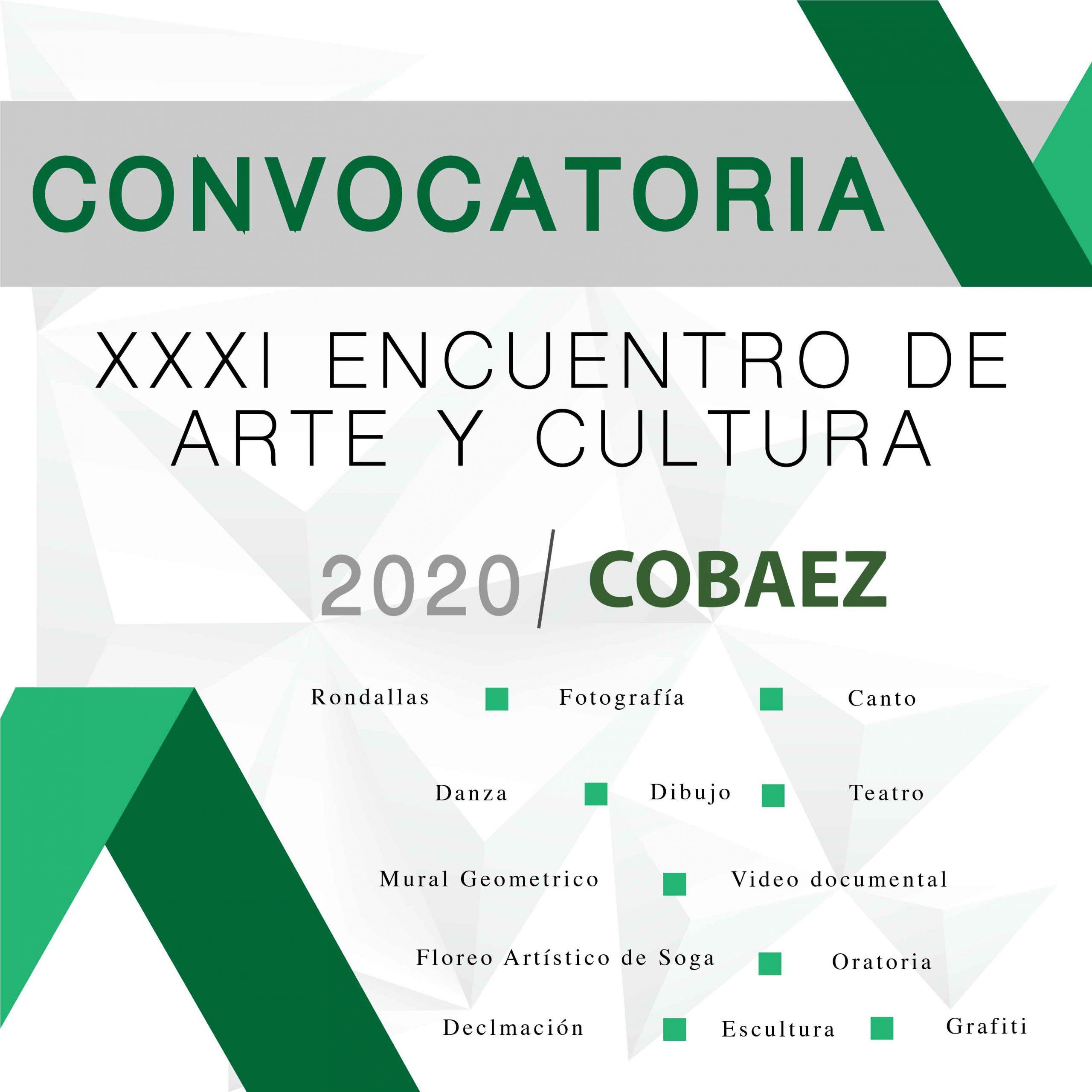 CONVOCATORIA XXXI ENCUENTRO DE ARTE Y CULTURA