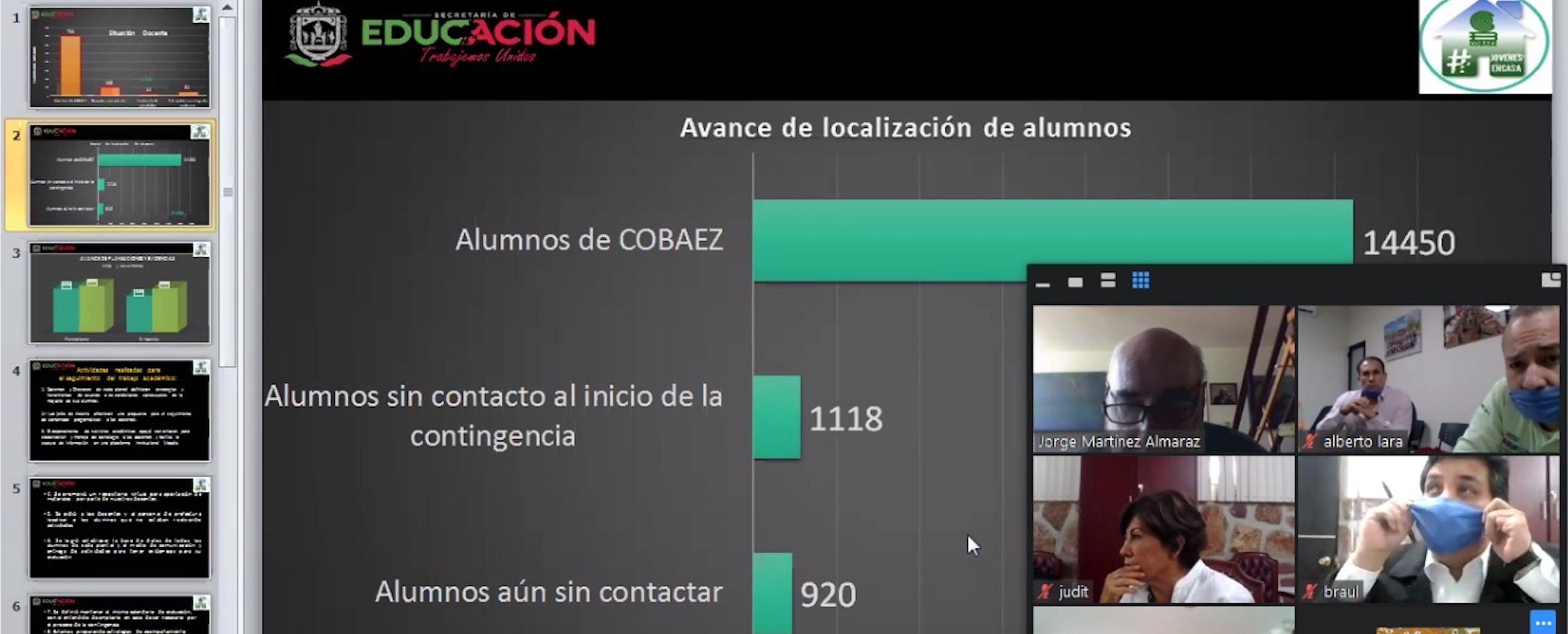 Participa COBAEZ en videoconferencia Regional de la Zona Noroeste.