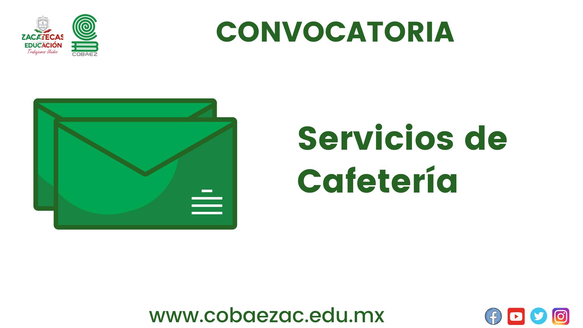 """Convocatoria """"Servicios de Cafetería"""""""