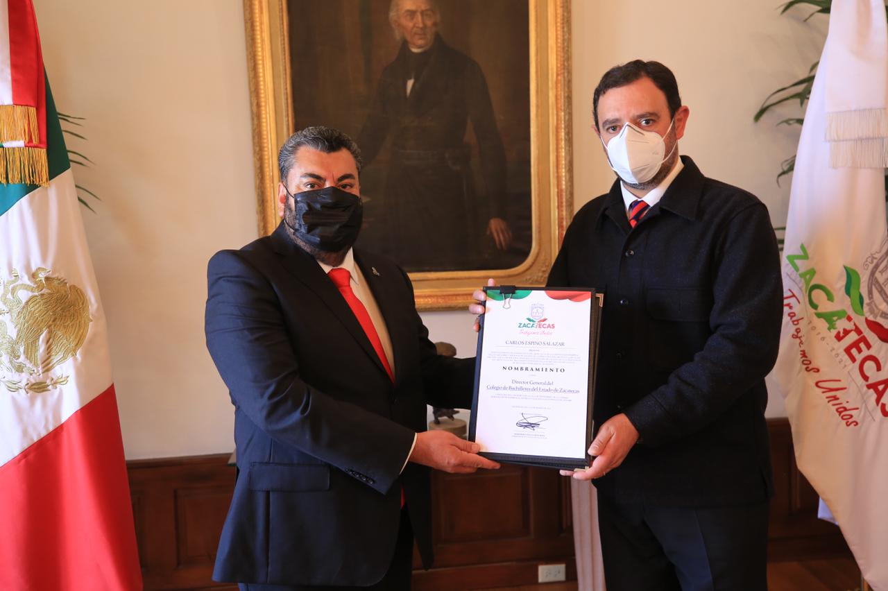 Carlos Espino, toma protesta como Director General del COABEZ