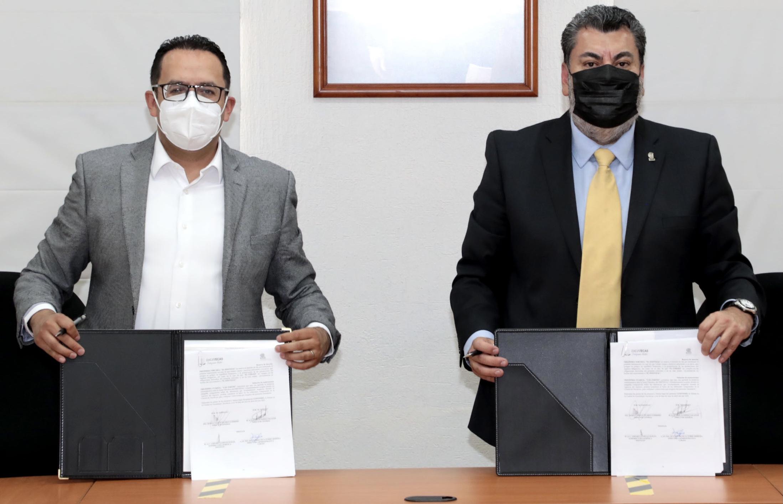 COBAEZ firma convenio de incorporación con el ISSSTEZAC